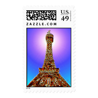 Eiffel Tower US Postage Stamps