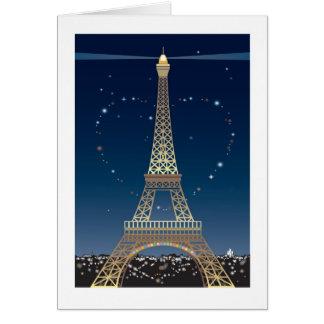 Eiffel Tower Valentine greeting card
