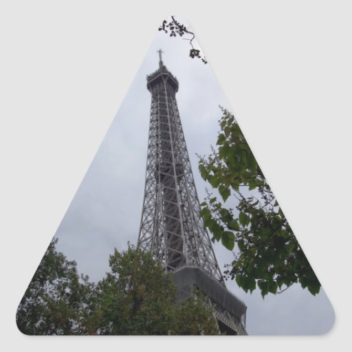 Eiffel Tower view between foliage Stickers