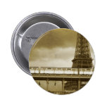 Eiffel Tower Vintage Badge Pinback Button
