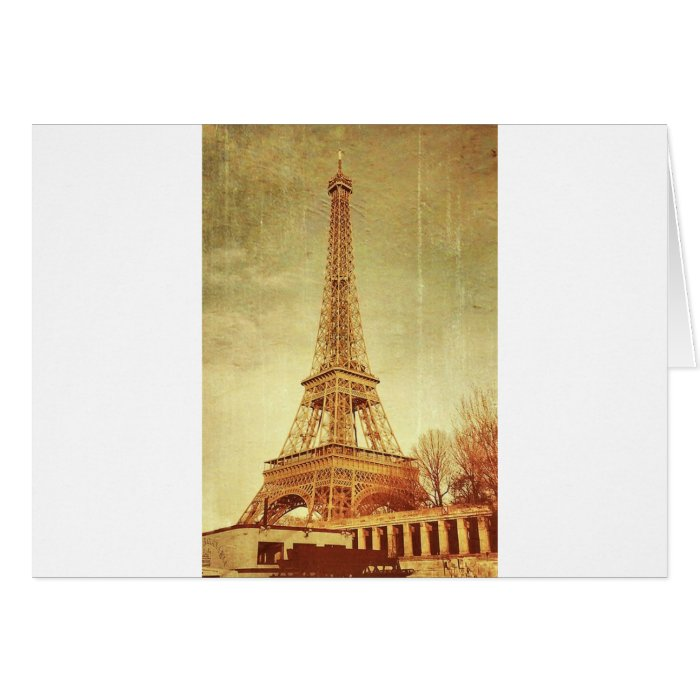 Eiffel Tower Vintage Card
