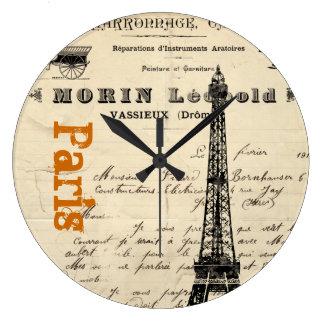 Eiffel Tower Vintage French Clock