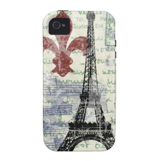 Eiffel Tower Vintage French iPhone 4 Case