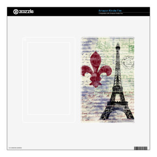 Eiffel Tower Vintage French Kindle Skin
