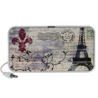 Eiffel Tower Vintage French Speaker $5.00 off your next purchase