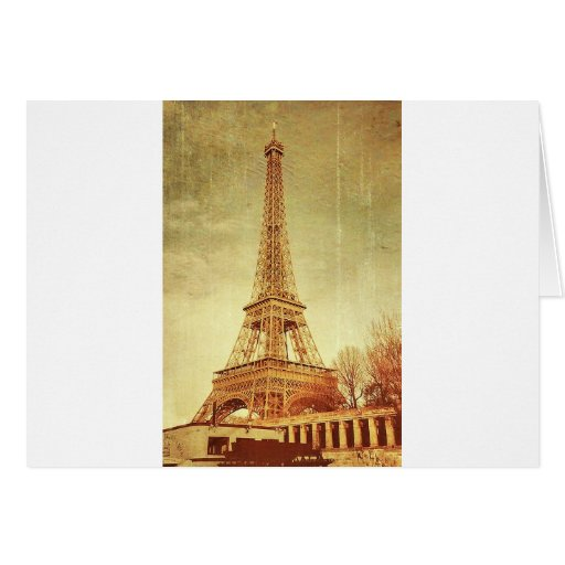 Eiffel Tower Vintage Greeting Cards