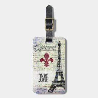 Eiffel Tower Vintage Look Luggage Tag