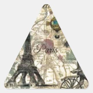 Eiffel Tower vintage Paris Triangle Sticker