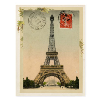 Eiffel Tower Vintage Reproduction Postcard