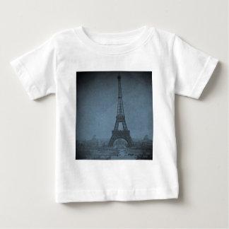 Eiffel Tower Vintage Stereoview Cyan Tone Baby T-Shirt