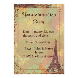 Eiffel Tower Vintage Style Invitation Card