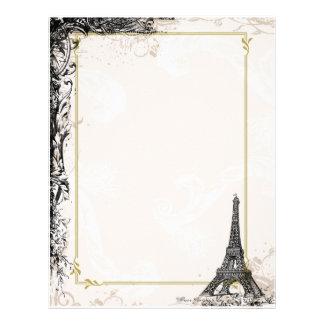 Eiffel Tower vintage style Letterhead