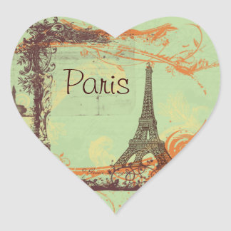 Eiffel Tower Vintage Style Stickers Tags