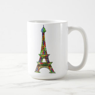 Eiffel Tower Watercolor Paint Coffee Mug