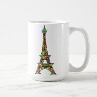 Eiffel Tower Watercolor Paint Coffee Mug