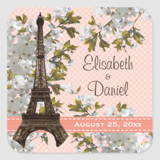 Eiffel Tower Wedding Favor Labels Stickers