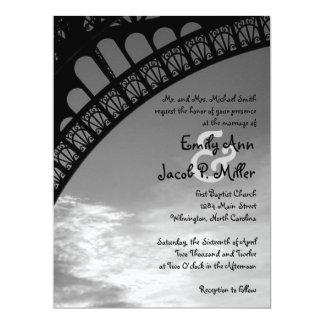 "Eiffel Tower Wedding Invitations 6.5"" X 8.75"" Invitation Card"
