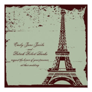 Eiffel Tower Wedding Invitations