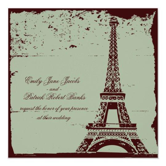 Eiffel Tower Wedding Invitations | Zazzle.com