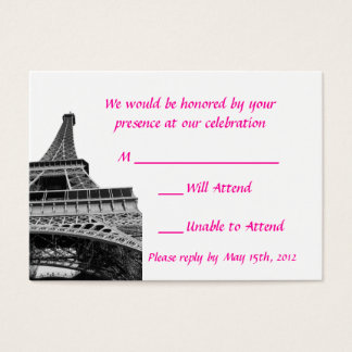 Eiffel Tower Wedding RSVP Cards