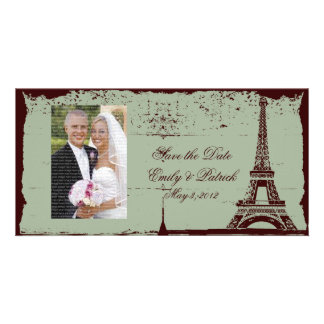 Eiffel Tower Wedding Save the Date Photo Cards