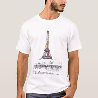Eiffel Tower White Effect T-Shirt