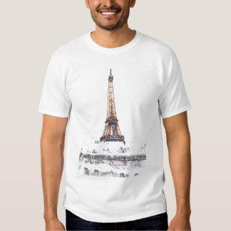 Eiffel Tower White Effect Tee Shirt