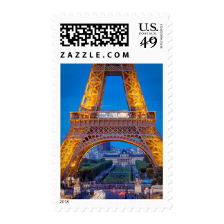Eiffel Tower with Ecole Militaire beyond Stamp