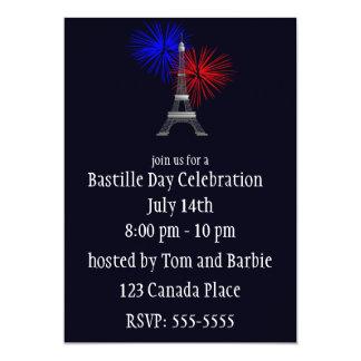 Eiffel Tower with Fireworks Invitation
