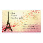 Eiffel Tower with floating hearts Double-Sided Standard Business Cards (Pack Of 100)