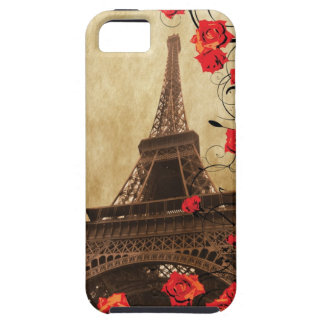 Eiffel Tower with Red Roses iPhone 5 Case