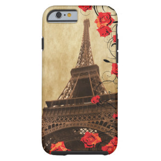 Eiffel Tower with Red Roses Tough iPhone 6 Case