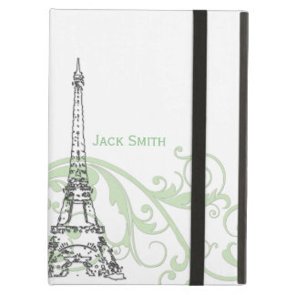 Eiffel Tower with Scrolls Cover For iPad Air