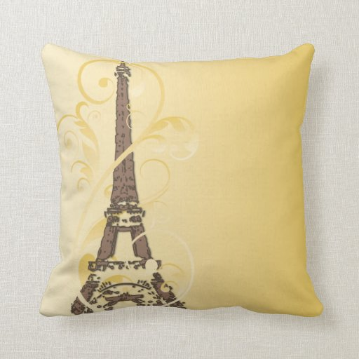 Eiffel Tower with Scrolls Pillows