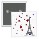 Eiffel Tower with Stars Button