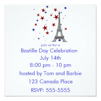 Eiffel Tower with Stars Invitation