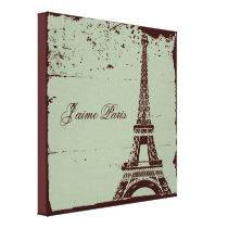 Eiffel Tower Wrapped Canvas Art
