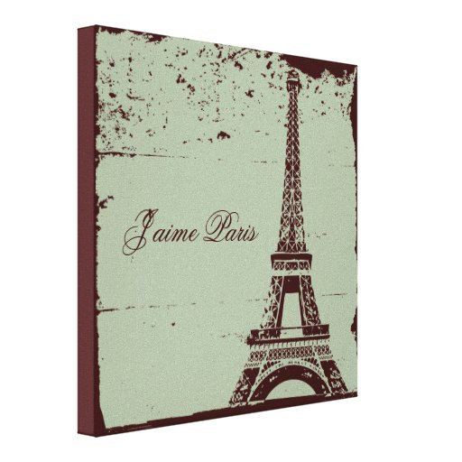Eiffel Tower Wrapped Canvas Art Gallery Wrapped Canvas