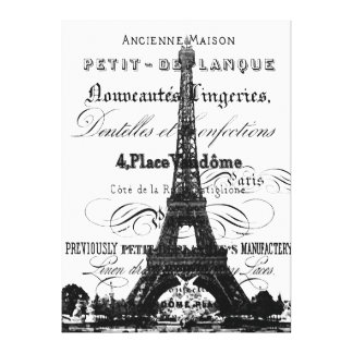 Eiffel Tower Wrapped Canvas_Extra Large Canvas Print