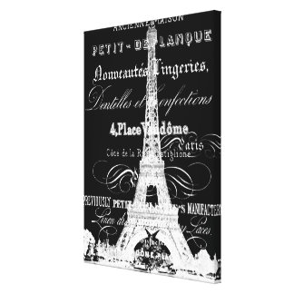 Eiffel Tower Wrapped Canvas_Small Canvas Print