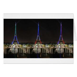 Eiffel towers card