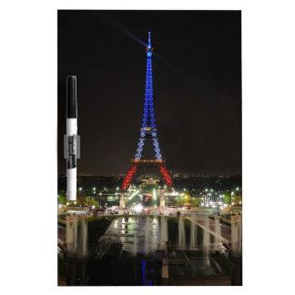 Eiffel towers dry erase board