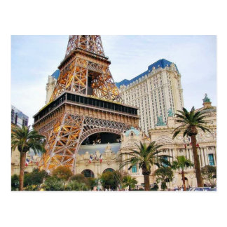 Eiffel Towers Las Vegas Paris Postcard