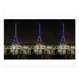 Eiffel towers postcard