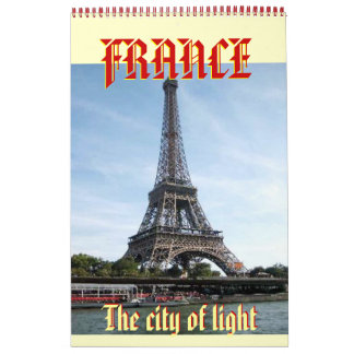 eiffel-view-from-seine, The city of light , FRA... Wall Calendars