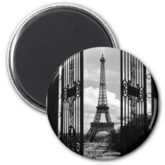 Eiffle Tower 2 Inch Round Magnet