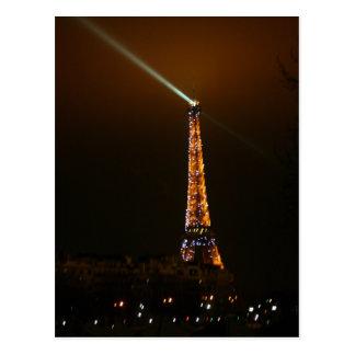 Eiffle Tower at Night Postcard