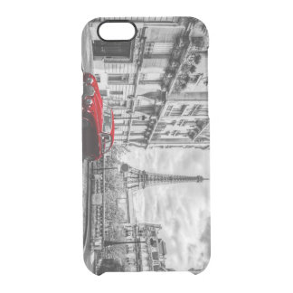 Eiffle Tower Black, White and Red. Clear iPhone 6/6S Case