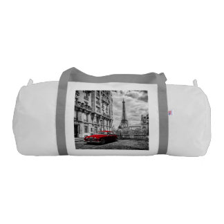 Eiffle Tower Black, White and Red. Gym Bag
