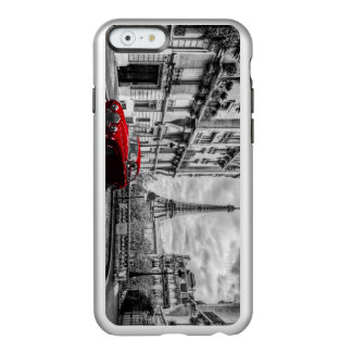 Eiffle Tower Black, White and Red. Incipio Feather Shine iPhone 6 Case